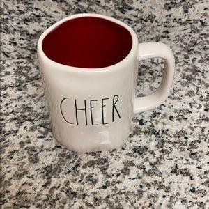 Christmas CHEER mug with green letters